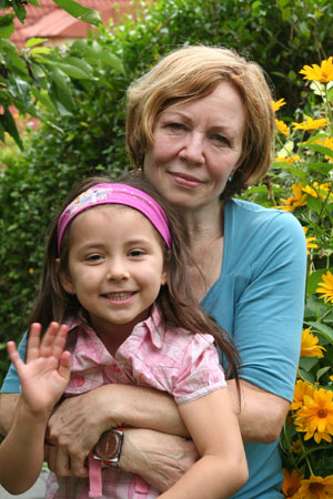 Annegret Raunigk pictured here in 2010 with her daughter Leila conceived her naturally in 2005.