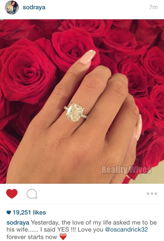 Andraya Howard-engagement-ring IG