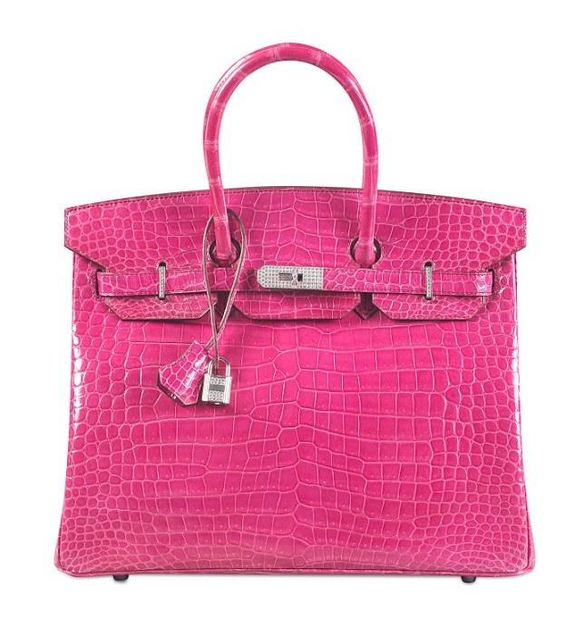 Pink Croc Birkin Bag