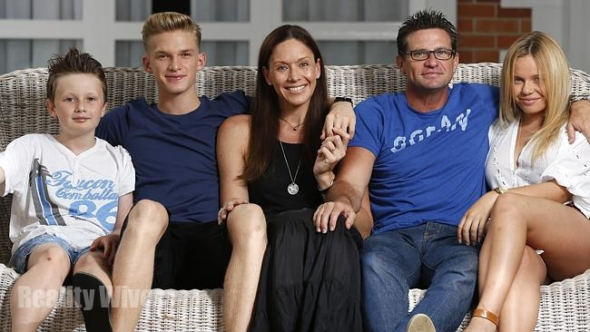 Angie (centre) with sons, Tom, Cody, husband Brad & daughter Alli.