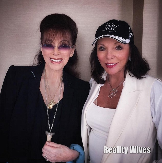 Jackie & Joan Collins in the UK a few weeks ago