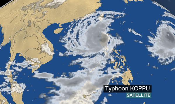 Typhoon Koppu-satellite