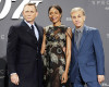 Actors Daniel Craig, Naomie Harris and Christoph Waltz (L-R) pose for photographers on the red carpet at the German premiere of the new James Bond 007 film ''Spectre'' in Berlin, Germany, October 28, 2015.