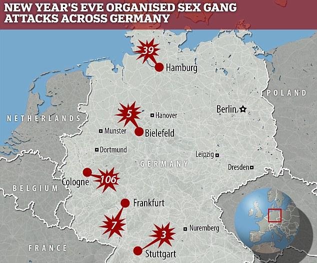 German NYE attacks