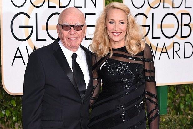 Rupert Murdoch-Jerry Hall-Golden Globes-md