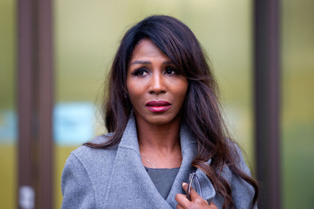 Sinitta Leaving court in February 2016